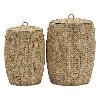 House Doctor Baskets/Storages Laun Natural Set of 2 sizes S: h: 57 cm dia: 37 cm L: h: 64 cm dia: 45 cm
