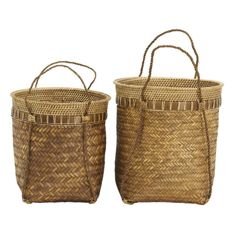 House Doctor-collectie House Doctor  Baskets Balie Nature Set of 2 sizes Finish/Colour/Size may vary h: 35 cm dia: 35 cm h: 28 cm dia: 30 cm
