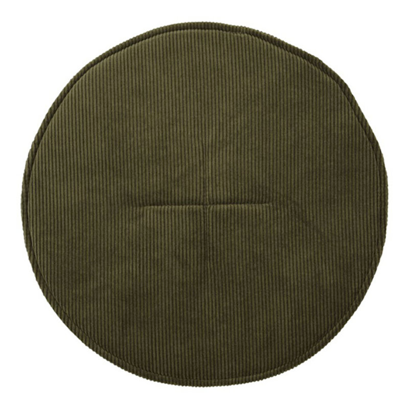 House Doctor-collectie House Doctor  Chair pad round Cord Green