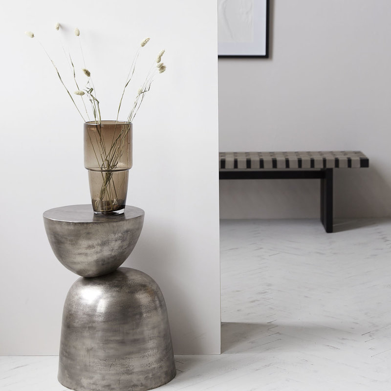 House Doctor-collectie Side table Heena, Metal oxidized