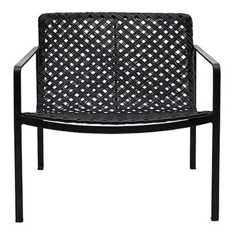 House Doctor-collectie Chair w. armrest Habra, Black