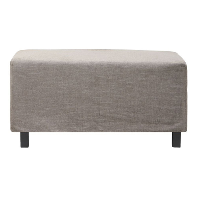 House Doctor-collectie Pouf, Hazel Night, Grey/Brown, Seat height: 44 cm