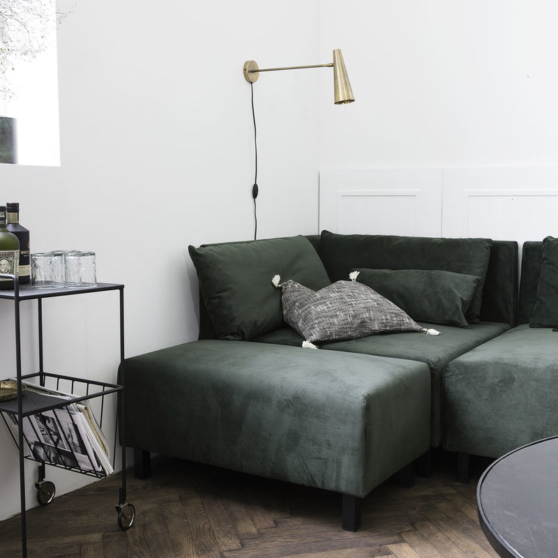 House Doctor-collectie Poef, Beluga green