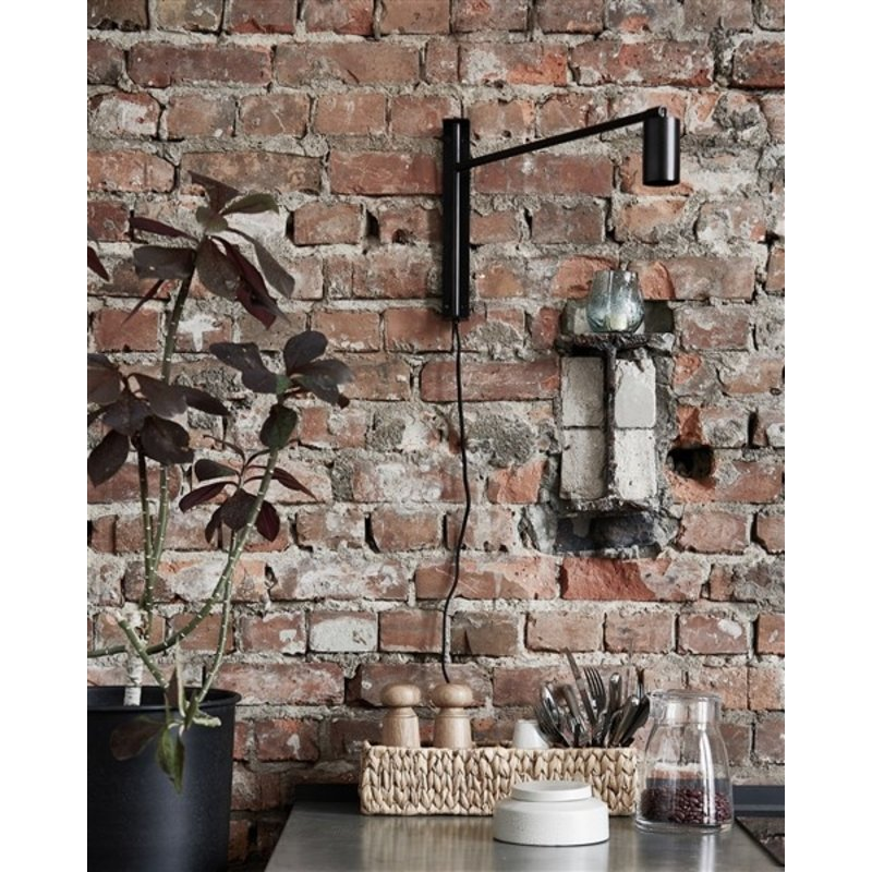 House Doctor-collectie House Doctor  Wall lamp Norm Black antique G9 bulb (LED) Max 6 W