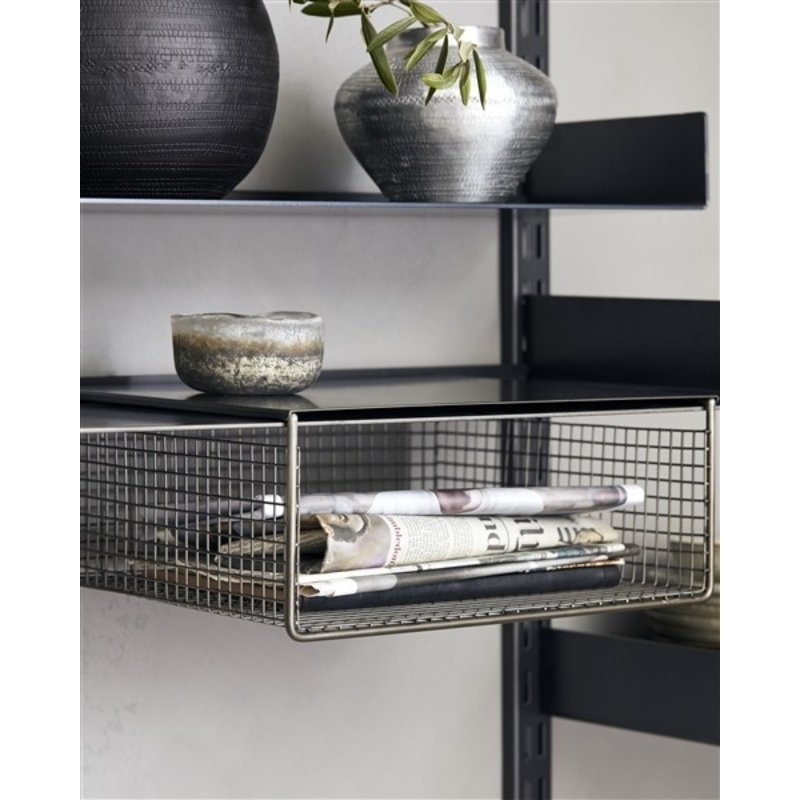 House Doctor-collectie House Doctor  Shelving system Fari Black Metal wire basket