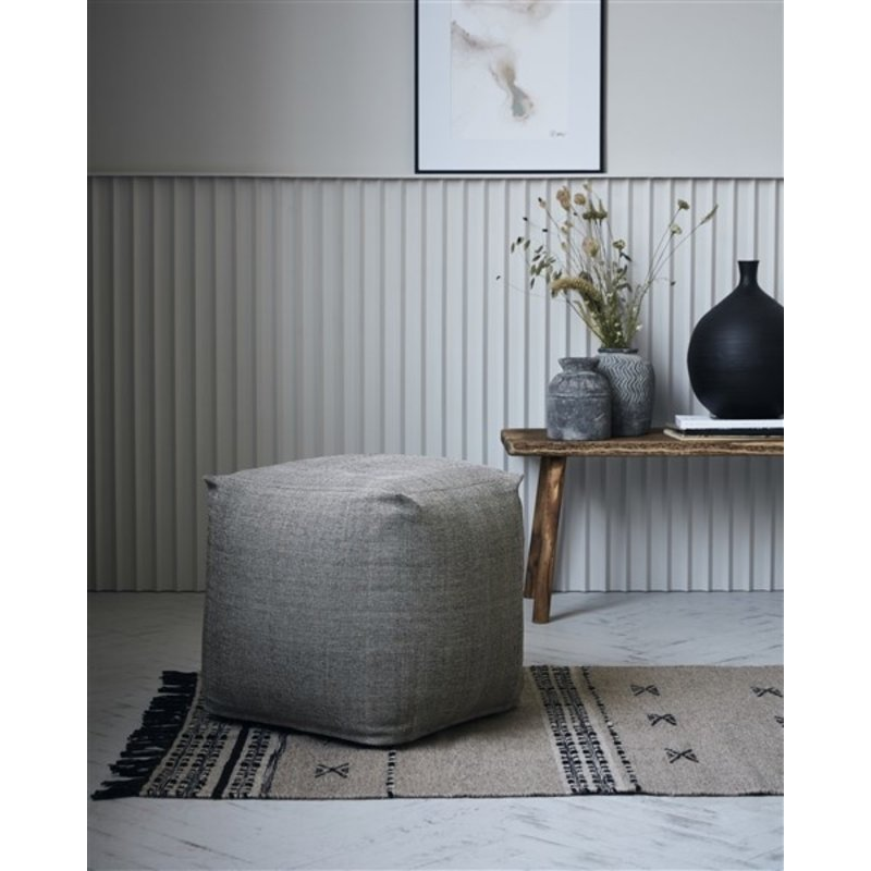 House Doctor-collectie House Doctor  Pouf Tabi Brown Finish/Colour may vary 45x45x45