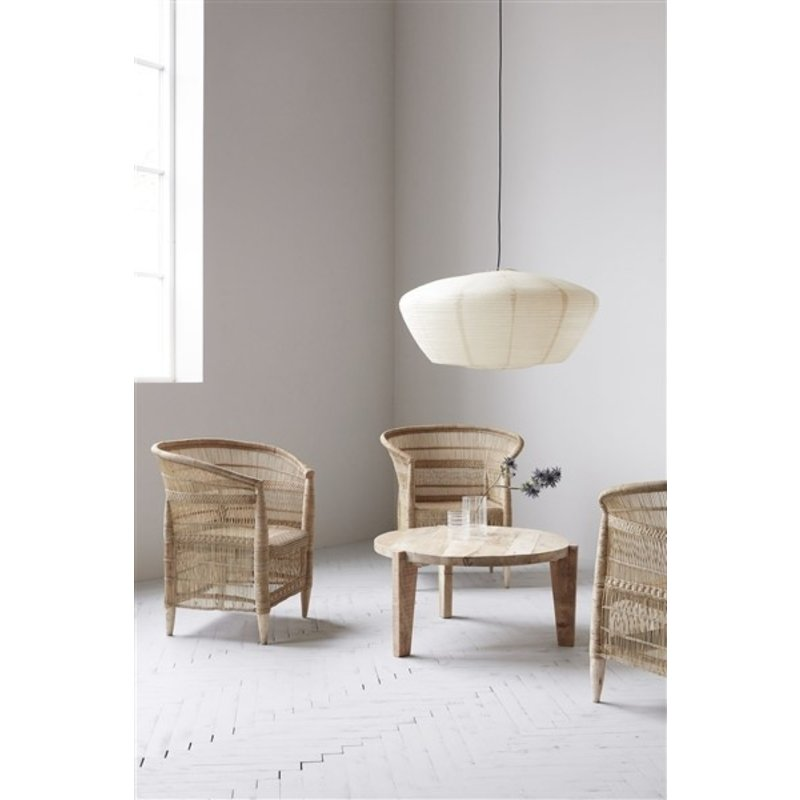 House Doctor-collectie Chair w. armrest Rika, Nature, Seat height: 40 cm
