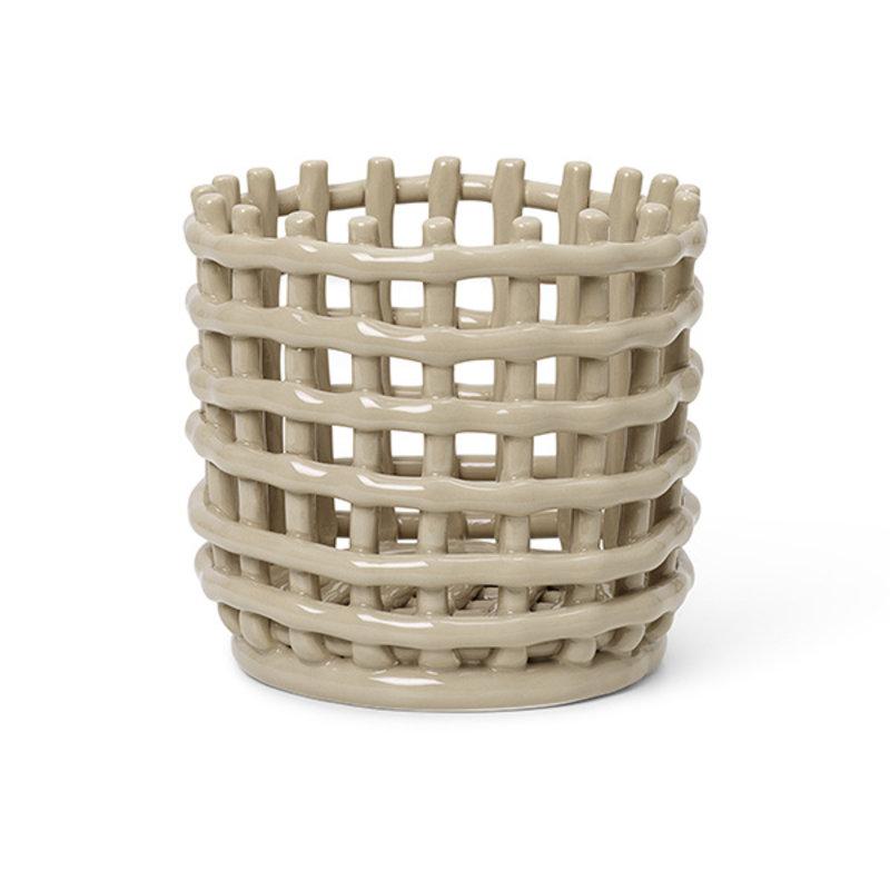 ferm LIVING-collectie Keramiek mand - klein - cashmere