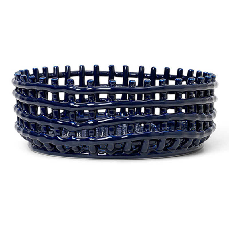 ferm LIVING-collectie Ceramic Centrepiece - Blue
