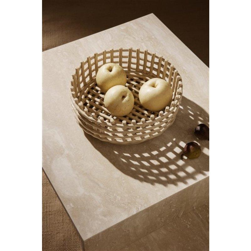 ferm LIVING-collectie Keramiek mand - laag - cashmere