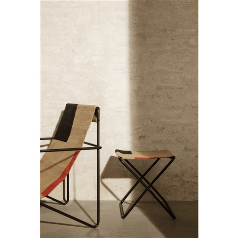 ferm LIVING-collectie Desert Lounge Chair - Black/Block