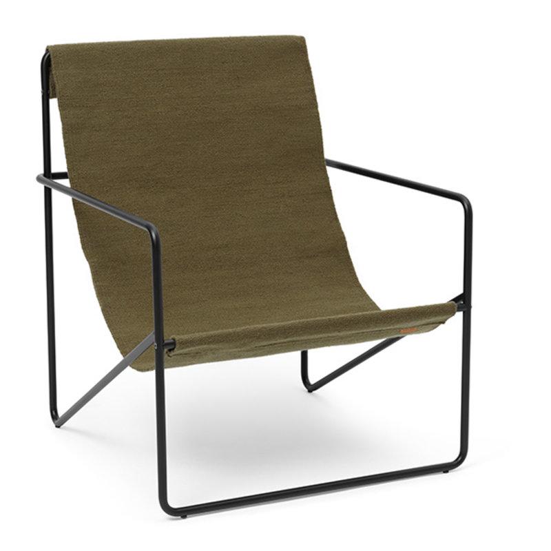 ferm LIVING-collectie Desert Lounge Chair - Black/Olive