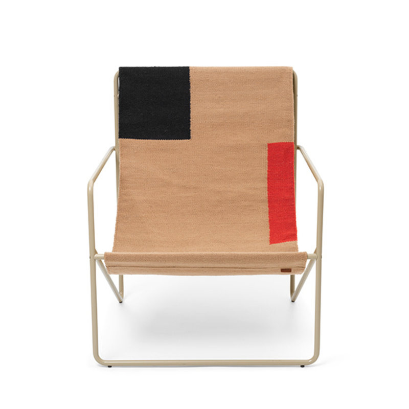 ferm LIVING-collectie Desert Chair - Cashmere/Block