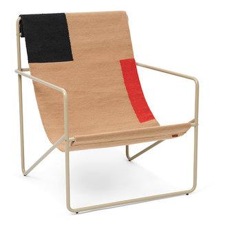ferm LIVING Desert Lounge Chair - Cashmere/Block