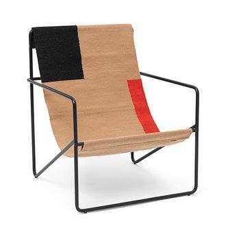 ferm LIVING Desert Lounge Chair - Black/Block