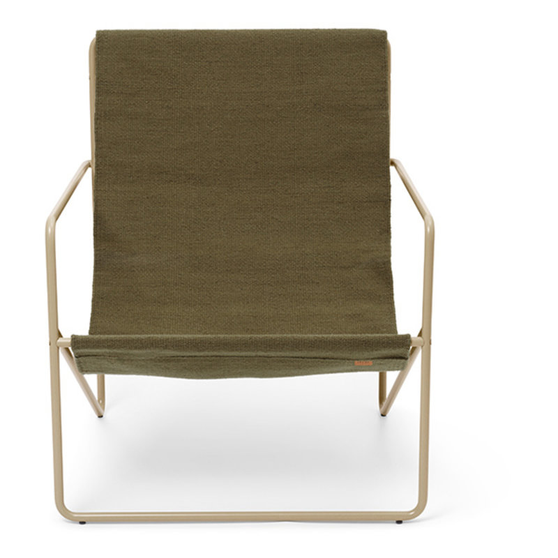 ferm LIVING-collectie Desert Lounge Chair - Cashmere/Olive