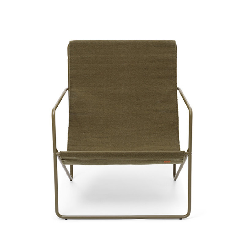 ferm LIVING-collectie Desert Lounge Chair - Olive/Olive