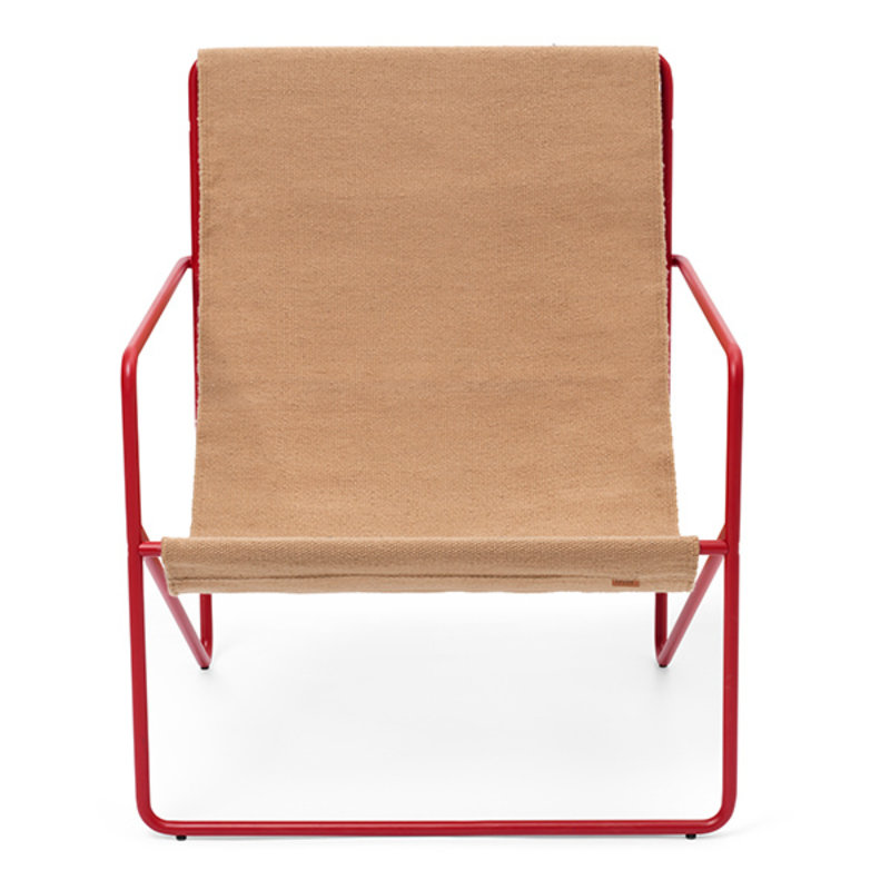 ferm LIVING-collectie Desert Lounge Chair - Poppy Red/Sand