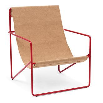 ferm LIVING Desert Chair - rood/zand