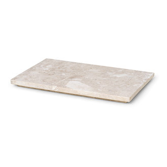 ferm LIVING Tray voor Plant Box Large - marmer - beige