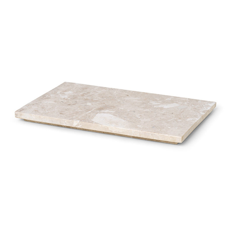 ferm LIVING-collectie Tray voor Plant Box Large - marmer - beige