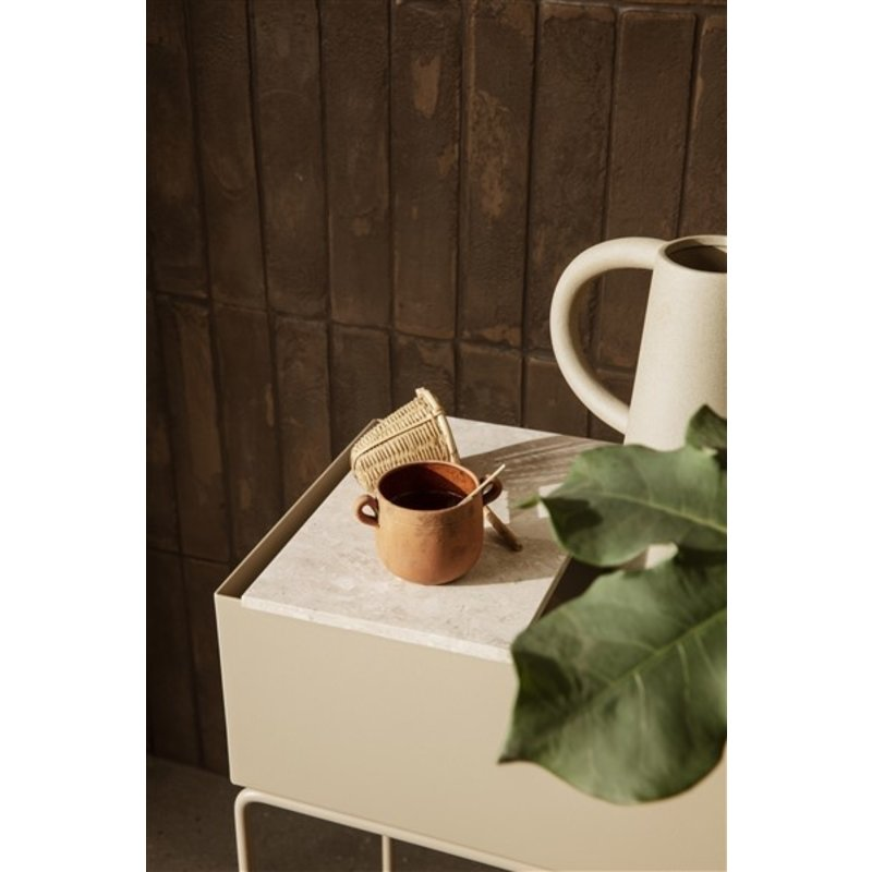 ferm LIVING-collectie Tray for Plant Box - Marble - Beige
