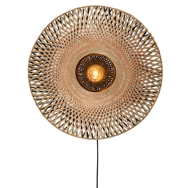 Good&Mojo-collectie Wandlamp Kalimantan bamboe plat S