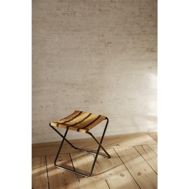ferm LIVING-collectie Desert Stool - Black/Stripe