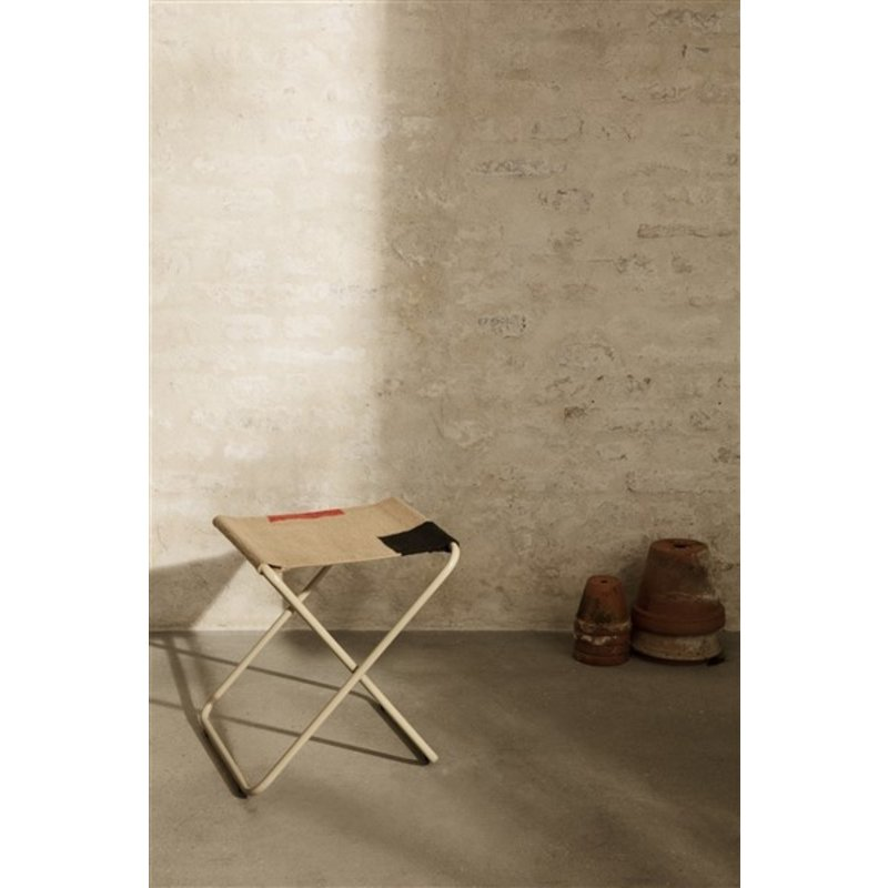 ferm LIVING-collectie Desert Stool - Cashmere/Block