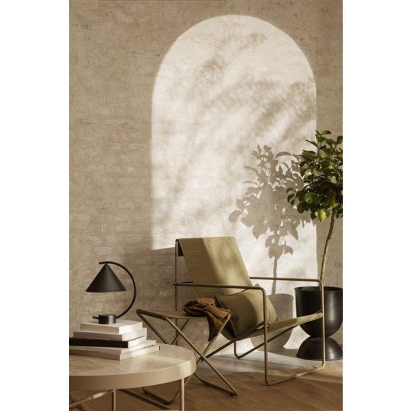 ferm LIVING-collectie Zitkrukje Desert - Cashmere/olijfgroen