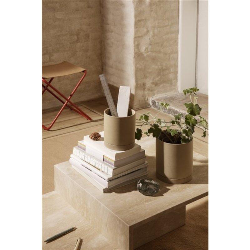 ferm LIVING-collectie Desert Stool - Poppy Red/Sand