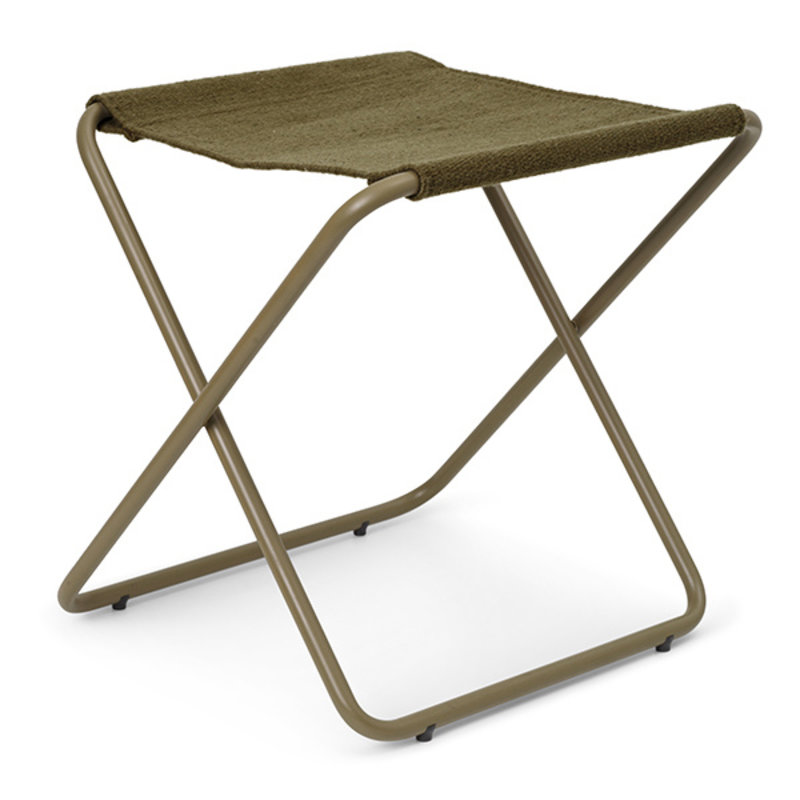ferm LIVING-collectie Desert Stool - Olive/Olive
