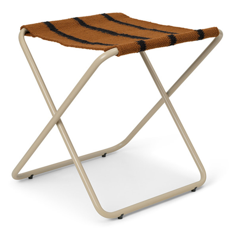 ferm LIVING-collectie Desert Stool - Cashmere/Stripe