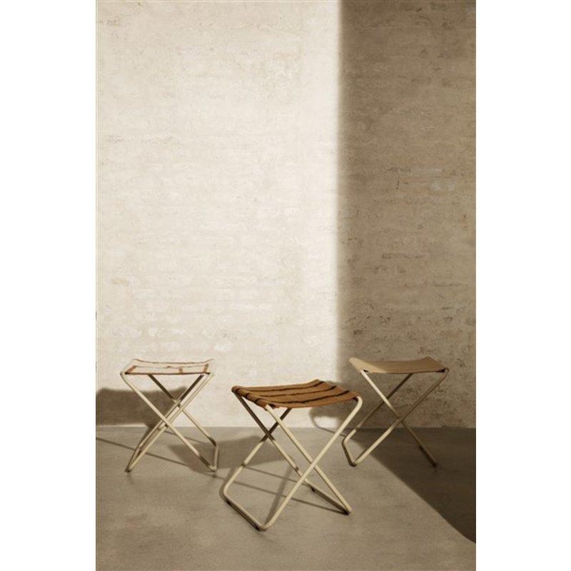 ferm LIVING-collectie Zitkrukje Desert - Cashmere/Stripe