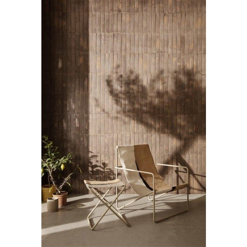 ferm LIVING-collectie Zitkrukje Desert - Cashmere/Soil