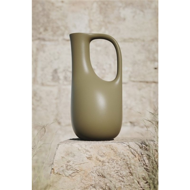 ferm LIVING-collectie Gieter waterkan Liba - olijfgroen