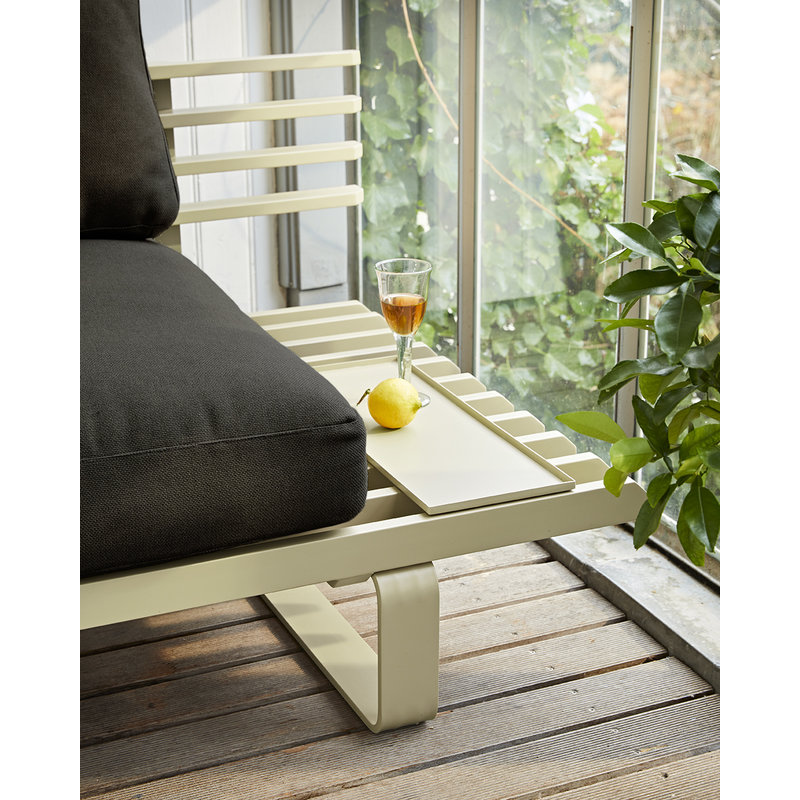 HKliving-collectie outdoor lounge sofa tray olive