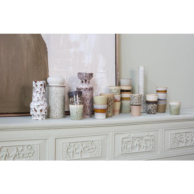 HKliving-collectie ceramic glazed flower vase, cream