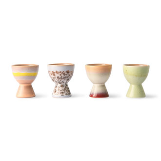 HKliving 70s ceramics: egg cups (set of 4)