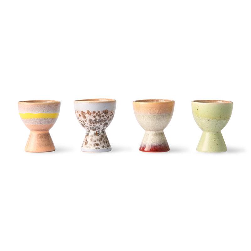 HKliving-collectie 70s ceramics: egg cups (set of 4)