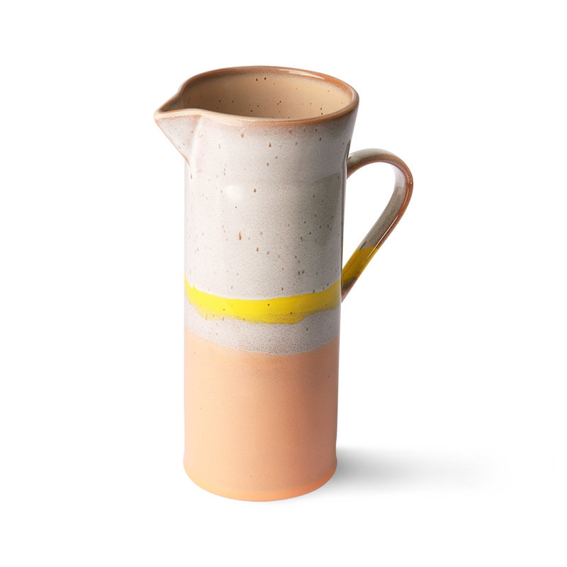HKliving-collectie 70s ceramics: jug, sunrise