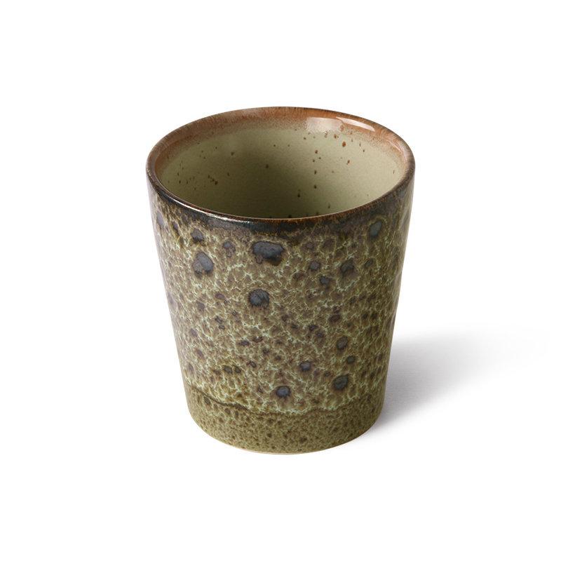 HKliving-collectie 70s keramiek koffie mokjes spring greens (set of 4)