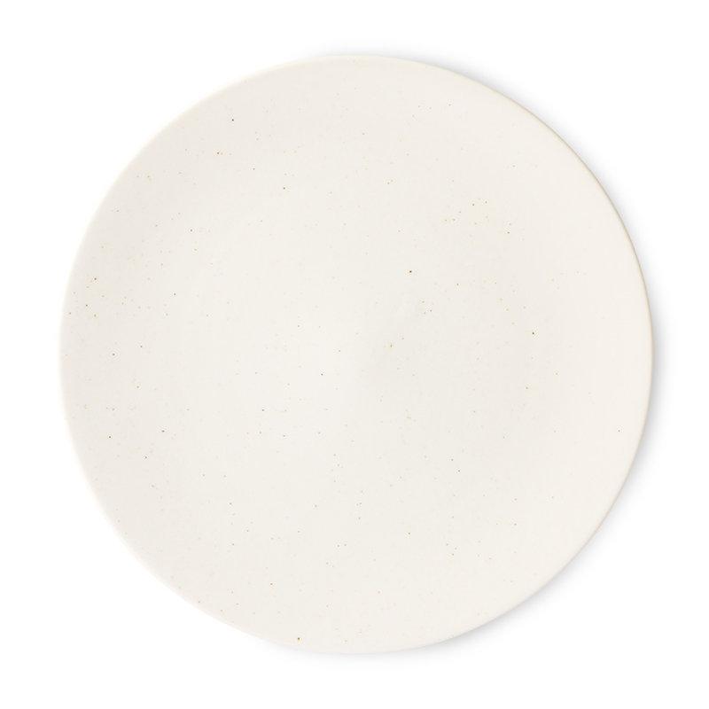 HKliving-collectie Kyoto keramiek Japans dinnerbord groot white speckled