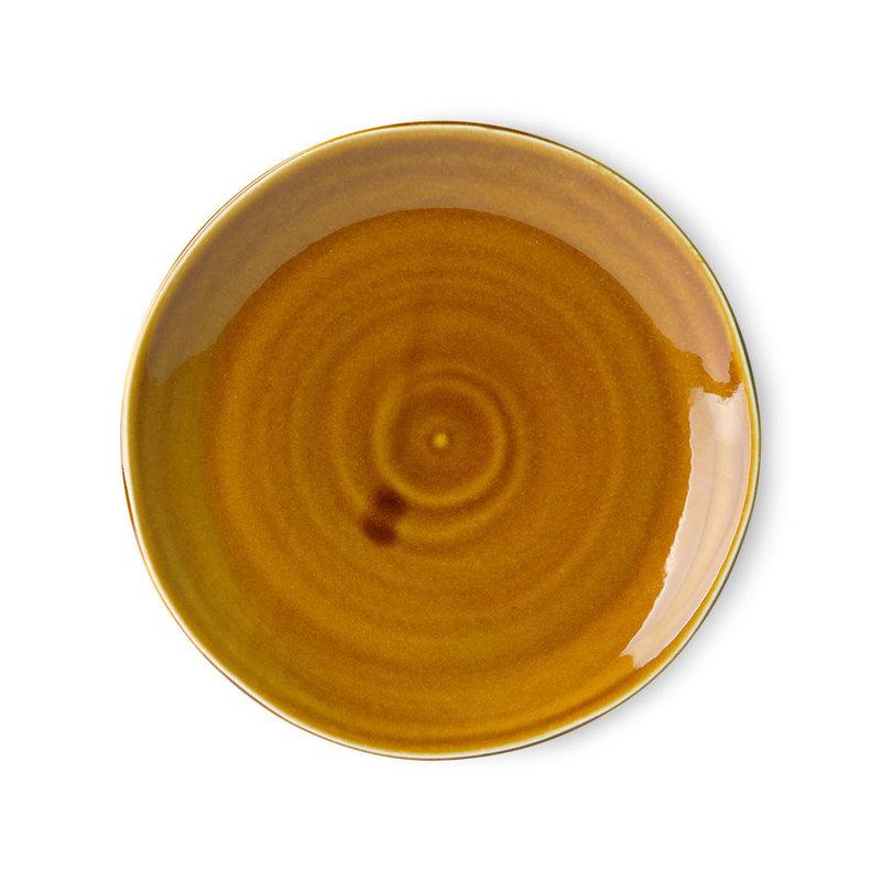 HKliving-collectie Kyoto keramiek Japans dinnerbord bruin