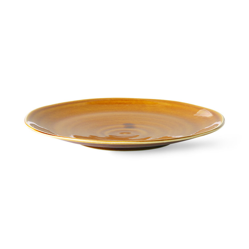 HKliving-collectie Kyoto ceramics: japanese dinner plate brown