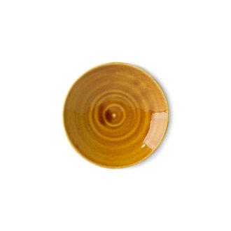 HKliving Kyoto keramiek Japans bord klein bruin