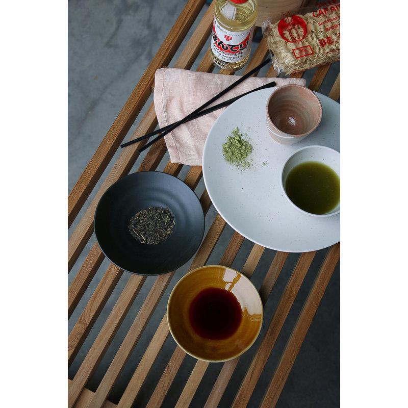 HKliving-collectie Kyoto keramiek Japans bord klein bruin