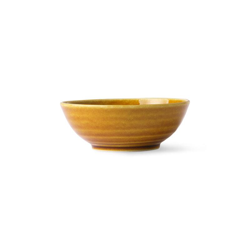 HKliving-collectie Kyoto keramiek Japans soepbord bruin
