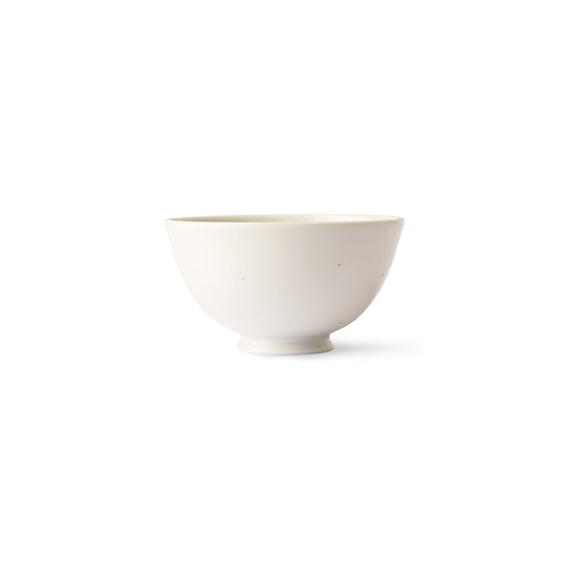 HKliving-collectie Kyoto ceramics: japanese rice bowl white speckled