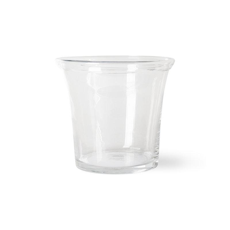 HKliving-collectie solid glass flower pot ø26cm